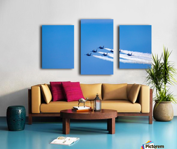 fighter jet formation Canvas print