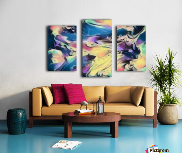 Smooth Brandy - multicolor abstract swirl wall art Canvas print