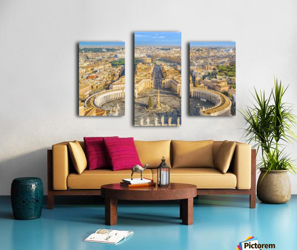 24996996 rome aerial view from saint peter basilica viewpoint Canvas print