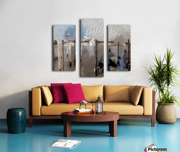 Venise le gondolier Canvas print