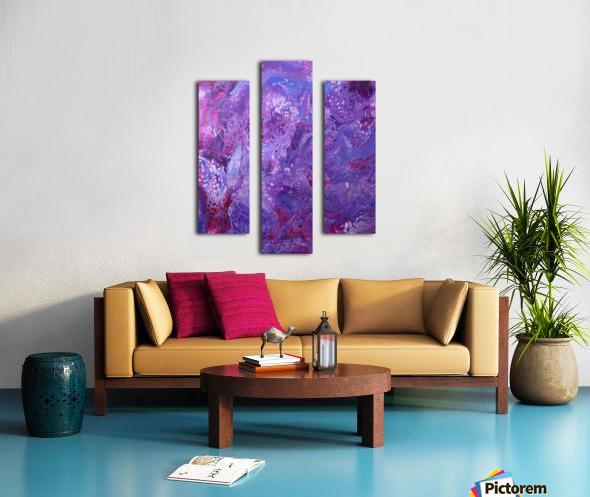 Purple sea of bliss Canvas print