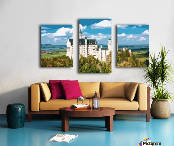 Neuschwanstein Castle poster Canvas print