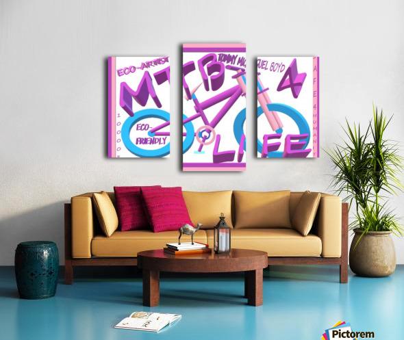 MTB 4 LIFE   ECO ARTIST TOMMY BOYD Canvas print