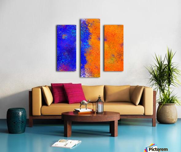 Seisnahorra - orange and blue balanced freedom Canvas print
