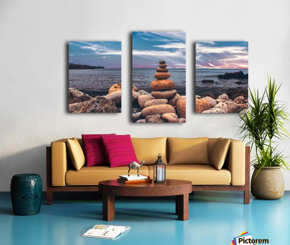 Rock balancing  Canvas print
