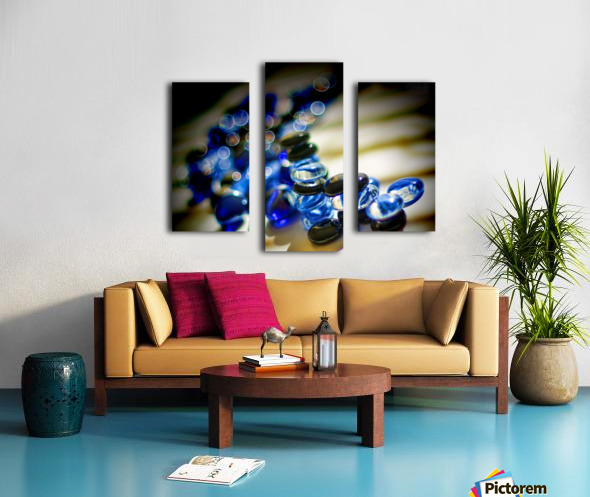 Blue Mosaic Glass Gems Canvas print
