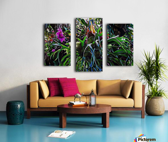 Stag Horn And Orchid Fantasy Garden Canvas print