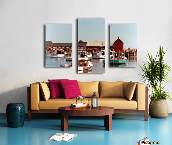 rockport retouched Canvas print