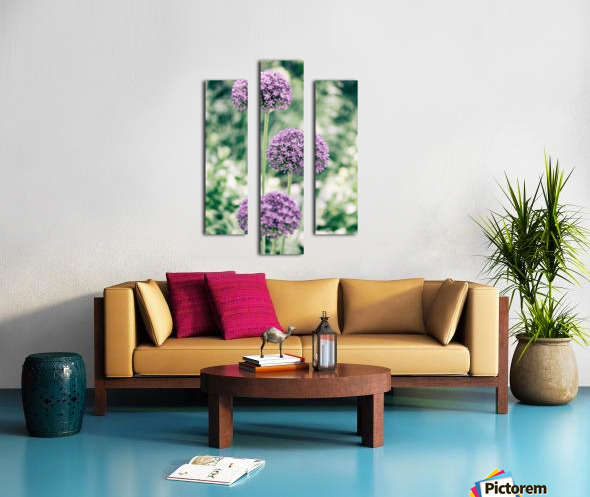 Three Purple Flowers Canvas print