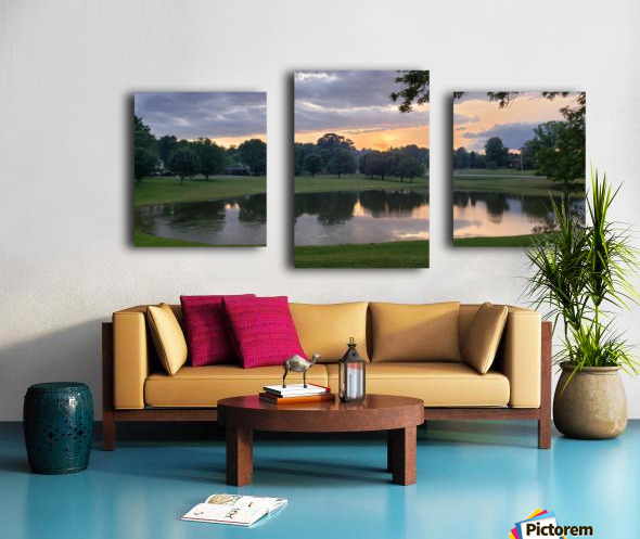 Sunset Pond Canvas print