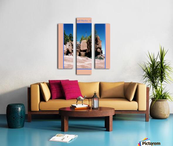 Hopewell Rocks - Canada Canvas print