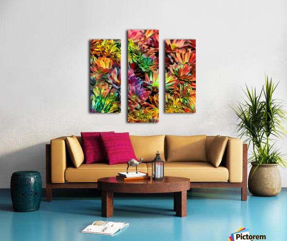 Rainbow Floral Canvas print