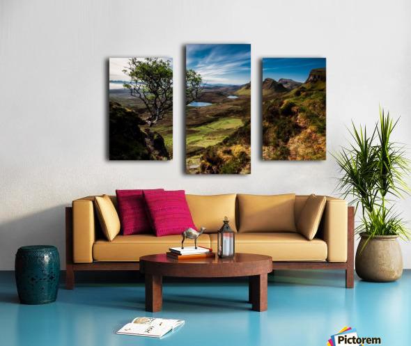 landscape quairaing scotland Canvas print