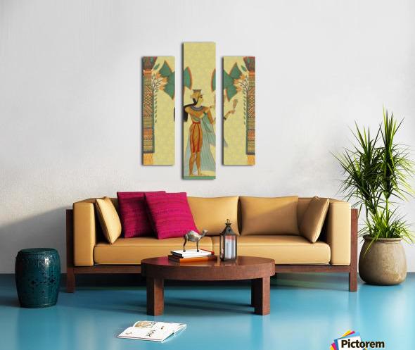 egyptian design man artifact royal Canvas print