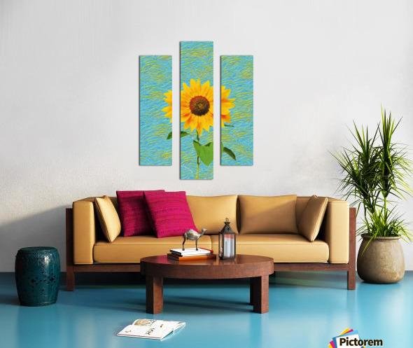 Sunflower. Canvas print