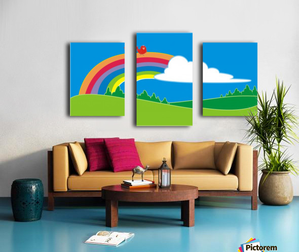natural cloud field grass Canvas print
