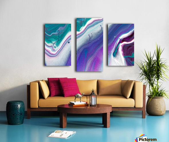 color acrylic paint art painting Canvas print