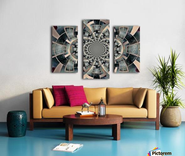 Graphic Ornamental Silver Canvas print