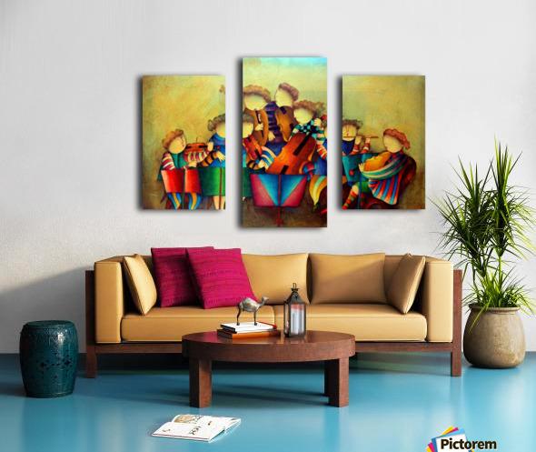 The Musicians  Canvas print