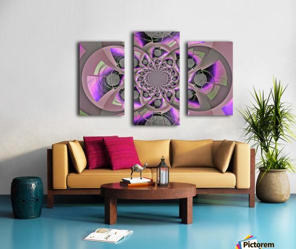 Mirror Infinity Lilac Canvas print
