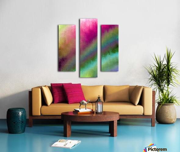 Color Burst - Flower Field Canvas print