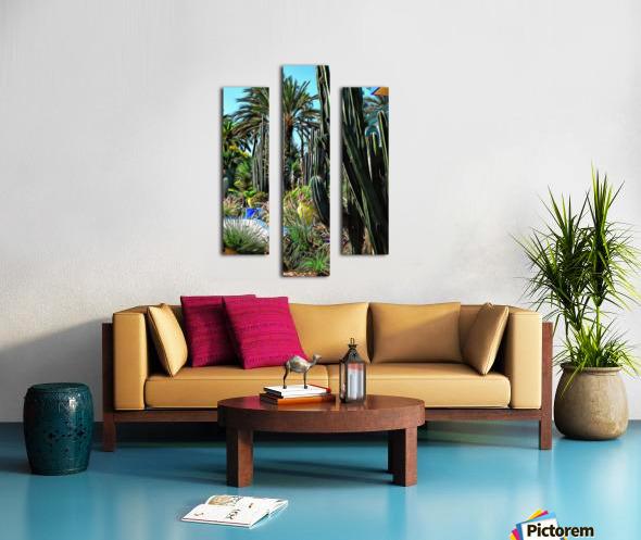 Giant Cacti Jardin Majorelle Marrakech Canvas print