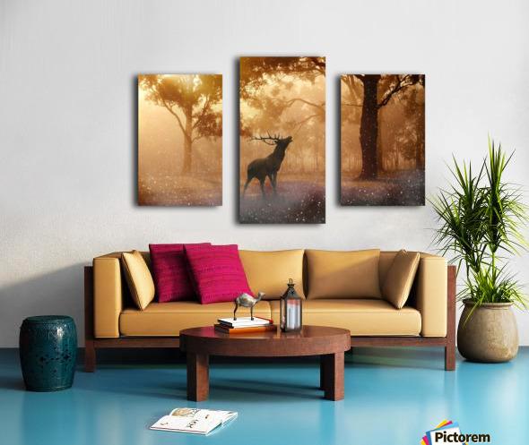 hirsch wild antler nature forest Canvas print