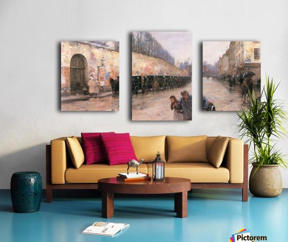 Rue Bonaparte by Hassam Canvas print