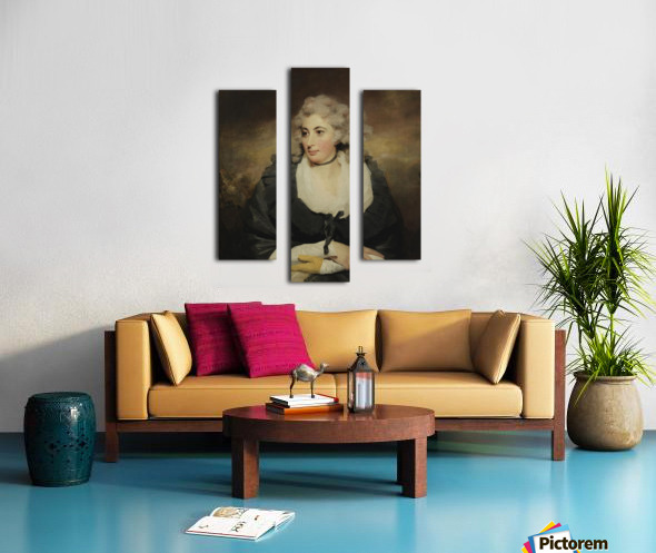 An old lady Canvas print