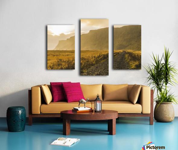 Icelandic sunset in Vik Iceland Canvas print