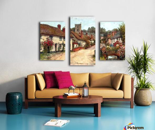 east budleigh devon uk vintage old Canvas print