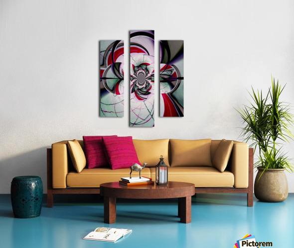 Broken Symmetry Red Canvas print