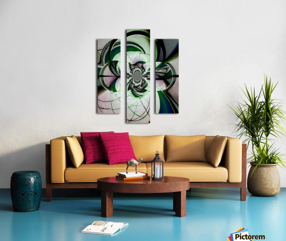 Broken Symmetry Teal Canvas print
