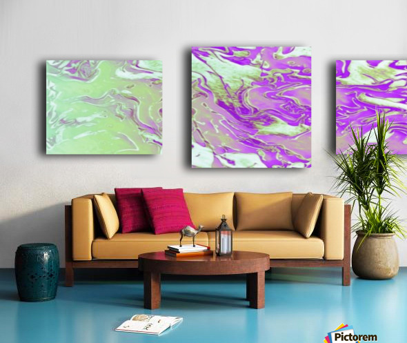 Lavender Mint Water - lavender mint green gradient swirls abstract wall art Canvas print