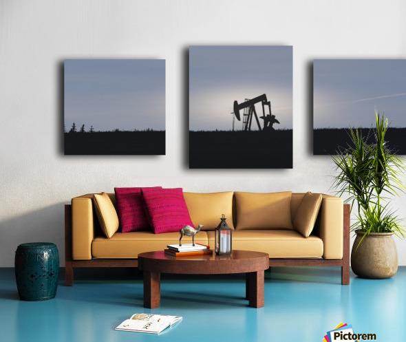 Pumpjack Oil Rig Canvas print