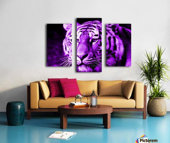 Tiger pop purple Canvas print