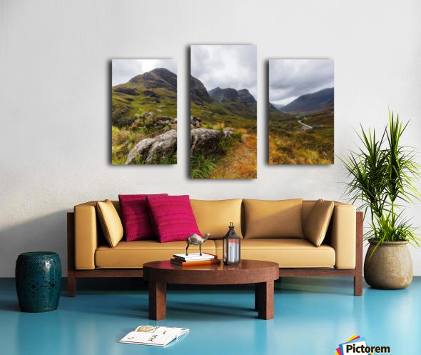Glencoe three sisters Canvas print
