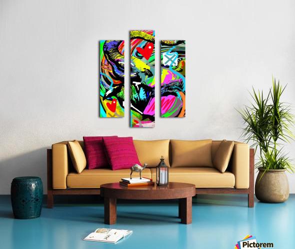 Color Elephant Canvas print