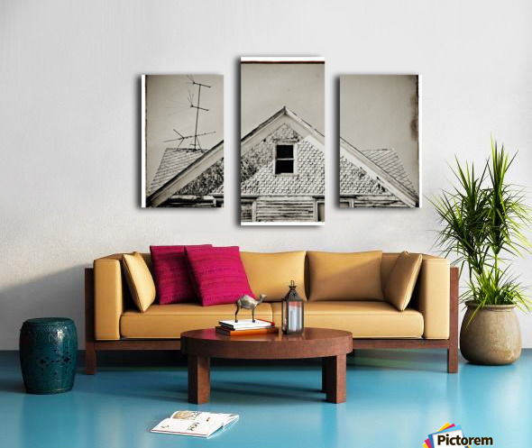 Top of the house Canvas print