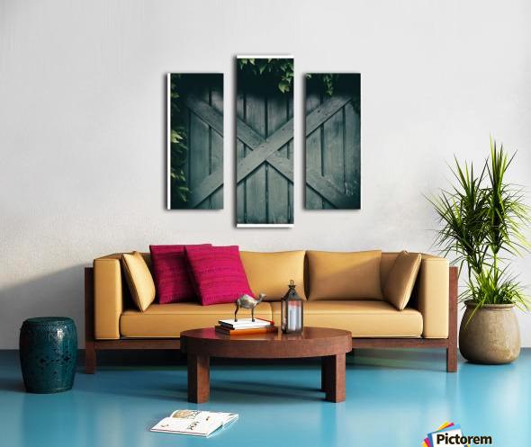 Green Doorway Canvas print