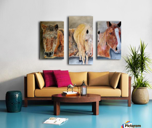 three horses Canvas print