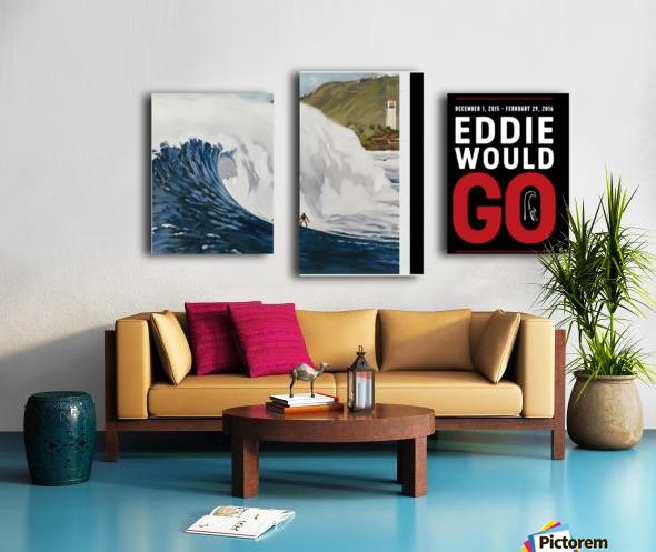 2015 QUIKSILVER - EDDIE AIKAU Big Wave Invitational Surfing Competition Print Canvas print