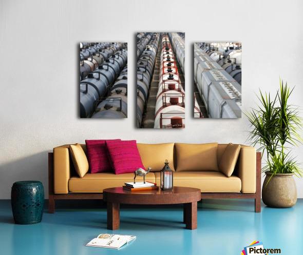 The Rail Yard - HDR Canvas print