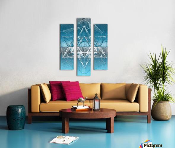 Cube of Metatrone Handdrawing Canvas print