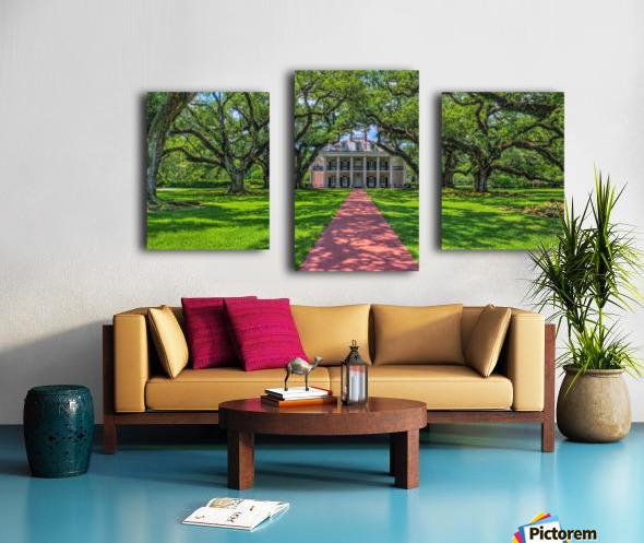 Oak Alley Plantation - HDR Canvas print