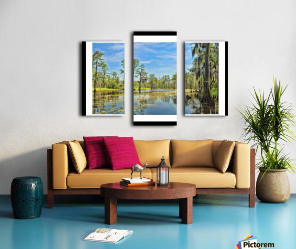 Down on the Bayou - HDR - White Border  - Black Border Canvas print