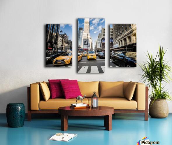 New York City Taxi Mayhem  Canvas print