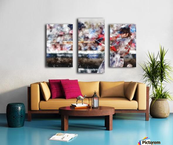 ANDREW BENINTENDI Water Color Print - Boston Red Sox Print Canvas print
