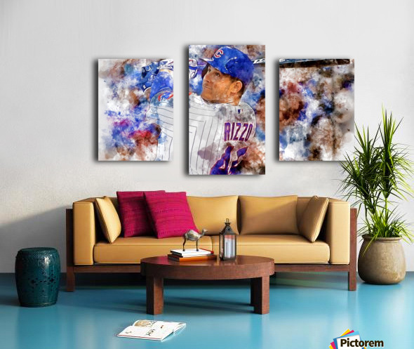 ANTHONY RIZZO Water Color Print - Chicago Cubs Print Canvas print
