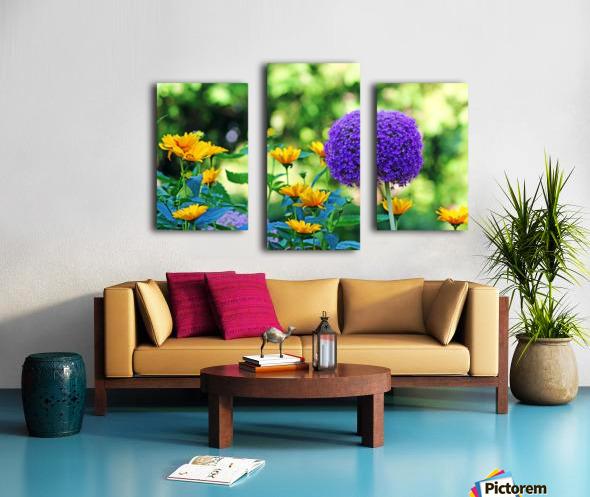 Allium And Wild Sunflowers Canvas print